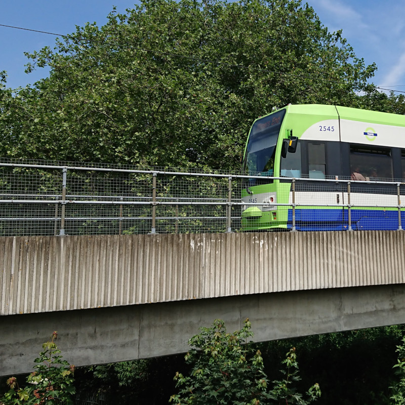 Tram by Wandle Park